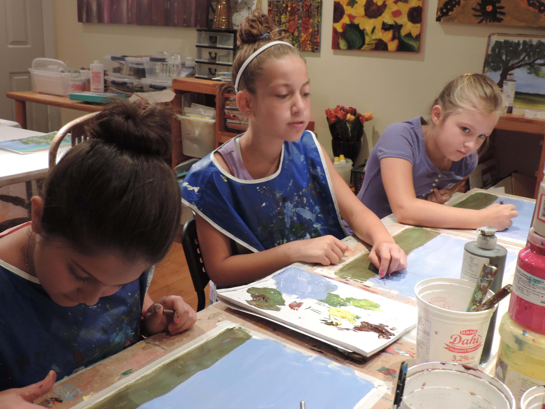 p.a day art camp art class kids painting