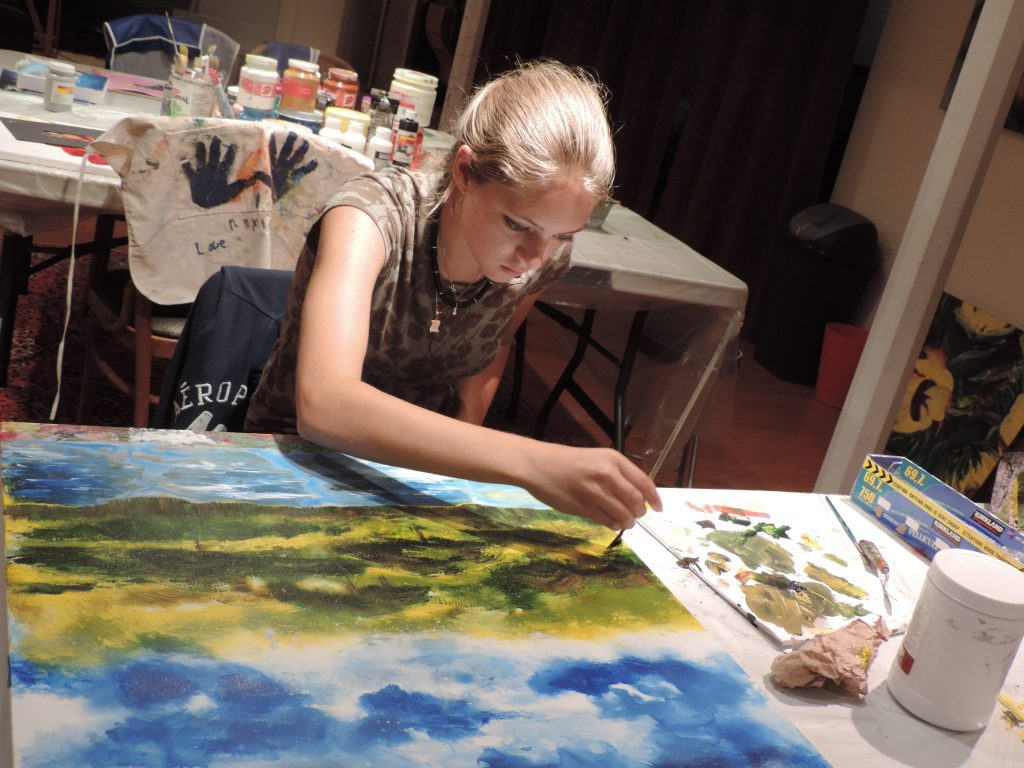 girls night painting paintning party girls night out